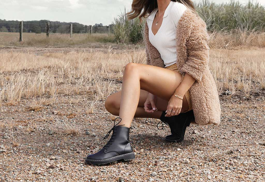 Rookie Lace Up Combat Boot