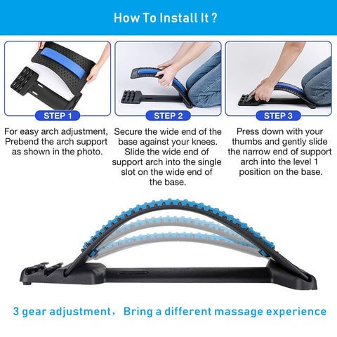 how to use back stretcher