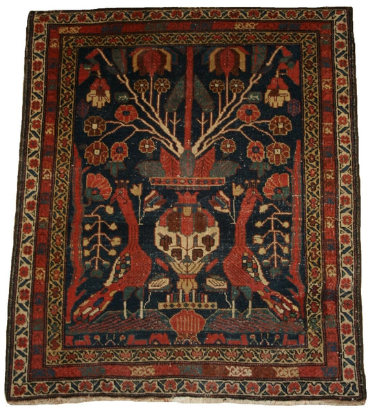 Persian Afshar Hand-knotted Rug Wool On Cotton (ID 1117