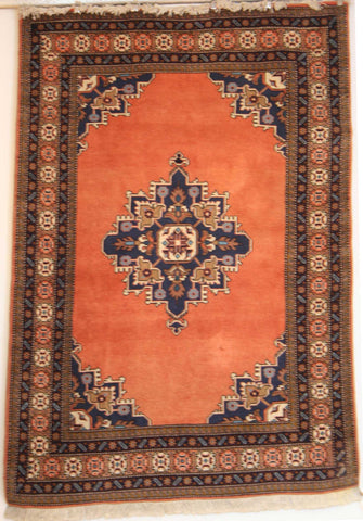 Persian Ardebil Hand-knotted Rug Wool on Cotton (ID 1018)