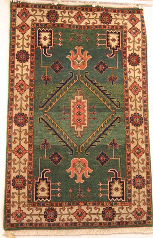 Persian Ardebil Hand-knotted Rug Wool on Cotton (ID 209)