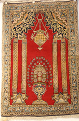 Persian Ardebil Hand-knotted Rug Wool on Cotton (ID 214)