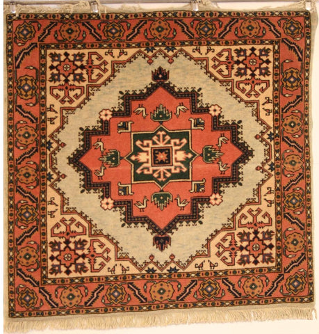 Persian Ardebil Hand-knotted Rug Wool on Cotton (ID 1031)
