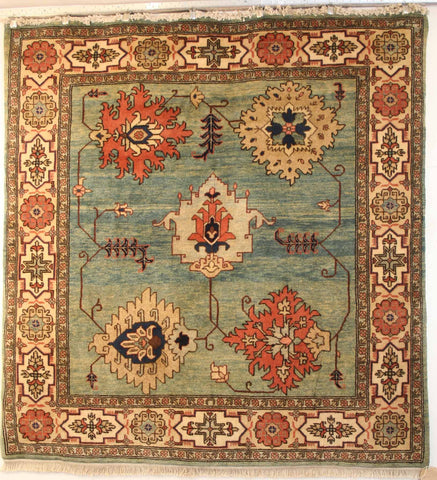 Persian Ardebil Hand-knotted Rug Wool on Cotton (ID 179)