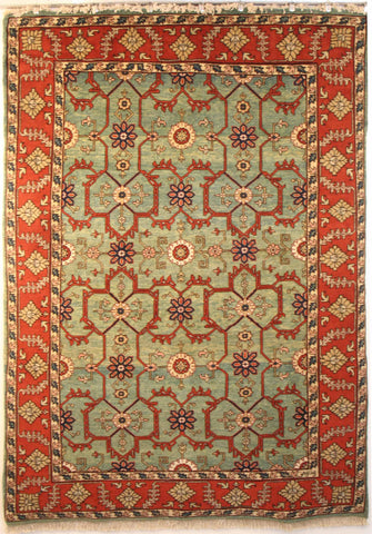 Persian Ardebil Hand-knotted Rug Wool on Cotton (ID 1230)