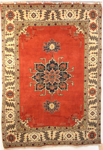 Persian Ardebil Hand-knotted Rug Wool on Cotton (ID 184)