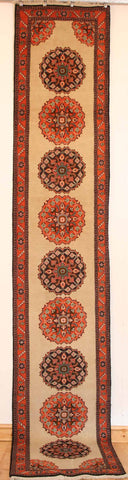 Persian Ardebil Hand-knotted Runner Wool on Cotton (ID 46)