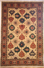 Persian Ardebil Hand-knotted Rug Wool on Cotton (ID 295)