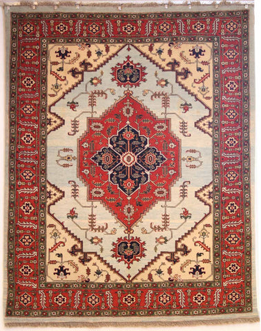 Persian Ardebil Hand-knotted Rug Wool on Cotton (ID 309)