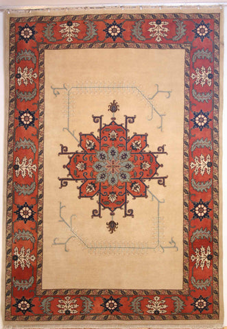 Persian Ardebil Hand-knotted Rug Wool on Cotton (ID 176)
