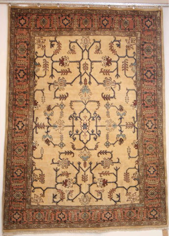 Persian Ardebil Hand-knotted Rug Wool on Cotton (ID 165)