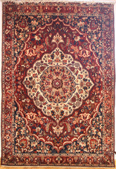 Persian Bakhtiari Hand-knotted Rug Wool on Cotton (ID 290)