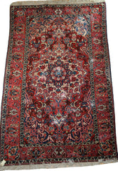 Persian Bakhtiari Hand-knotted Rug Wool on Wool (ID 1096)