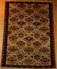 Azerbaijani Baku Hand-knotted Rug Woll on Cotton (ID 1314)