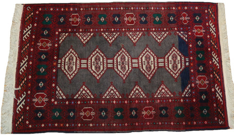 Persian Baluch Hand-knotted Rug Wool on Cotton (ID 1224)