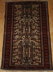 Persian Baluch Hand-knotted Rug Wool on Wool (ID 1158)