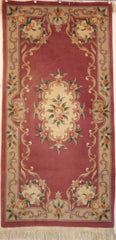 Chinese Tianjin Hand-knotted Runner Wool on Cotton (ID 1022)