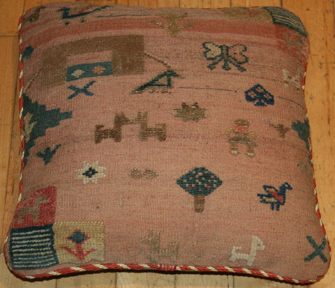 Persian Qashqai Hand-knotted Cushion Wool on Wool (ID 335)