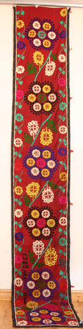 Uzbek Samarkhand Hand-knotted Hand Embroidered Cotton on Cotton (ID 1070)