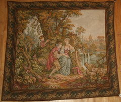 France  Hand-knotted Tapestry Wool on Cotton (ID 1091)