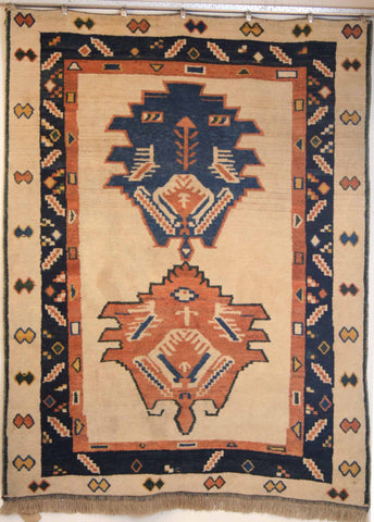 Persian Shiraz Hand-knotted Gabbeh Wool on Wool (ID 100)