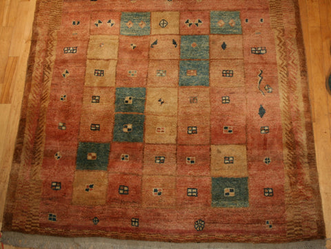 Persian Shiraz Hand-knotted Gabbeh Wool on Wool (ID 24)