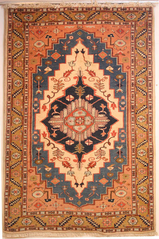 Persian Shiraz Hand-knotted Gabbeh Wool on Cotton (ID 316)