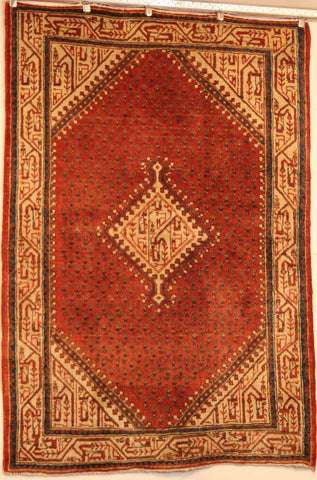 Persian Hamedan Hand-knotted Rug Wool on Cotton (ID 1250)