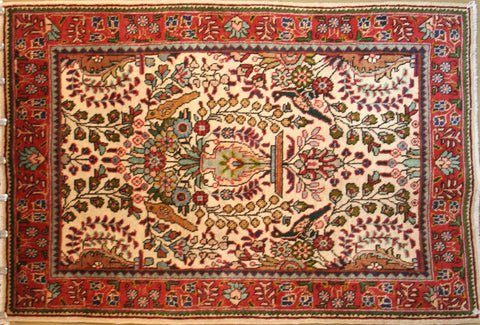Persian Hamedan Hand-knotted Rug Wool on Cotton (ID 1248)