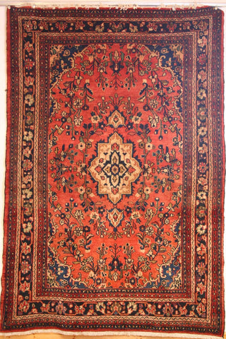 Persian Hamedan Hand-knotted Rug Wool on Cotton (ID 2)