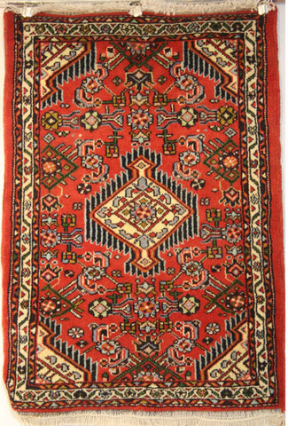 Persian Hamedan Hand-knotted Rug Wool on Cotton (ID 1053)