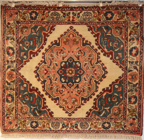 Persian Hamedan Hand-knotted Rug Wool on Cotton (ID 204)