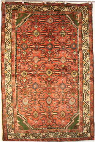 Persian Hamedan Hand-knotted Rug Wool on Cotton (ID 1249)