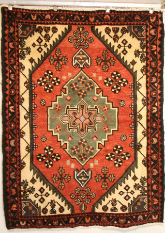 Persian Hamedan Hand-knotted Rug Wool on Cotton (ID 1242)