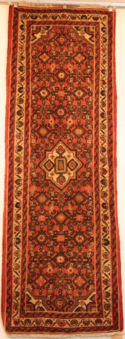 Persian Hamedan Hand-knotted Runner Wool on Cotton (ID 60)