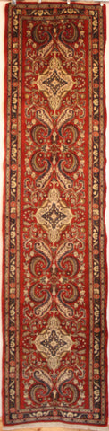 Persian Hamedan Hand-knotted Runner Wool on Cotton (ID 328)