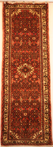 Persian Hamedan Hand-knotted Runner Wool on Cotton (ID 91)