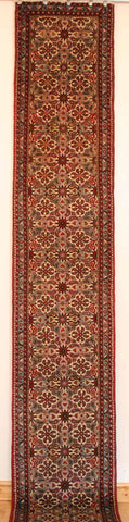 Persian Hamedan Hand-knotted Runner Wool on Cotton (ID 1059)