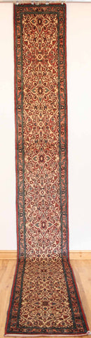 Persian Hamedan Hand-knotted Runner Wool on Cotton (ID 329)