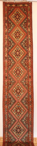 Persian Hamedan Hand-knotted Runner Wool on Cotton (ID 72)