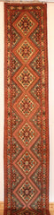 Persian Hamedan Hand-knotted Runner Wool on Cotton (ID 80)