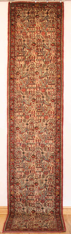 Persian Hamedan Hand-knotted Runner Wool on Cotton (ID 1064)
