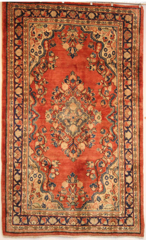 Persian Hamedan Hand-knotted Rug Wool on Cotton (ID 1241)