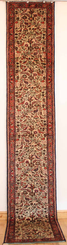 Persian Hamedan Hand-knotted Runner Wool on Cotton (ID 64)