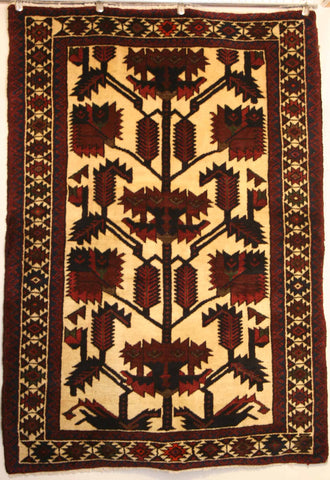 Persian Hamedan Hand-knotted Rug Wool on Cotton (ID 1279)