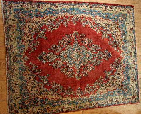 Persian Hamedan Hand-knotted Rug Wool on Cotton (ID 1160)