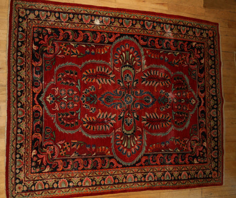 Persian Hamedan Hand-knotted Rug Wool on Cotton (ID 1154)