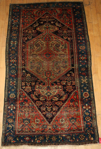 Persian Hamadan Hand-knotted Rug Wool on Cotton (ID 1108)