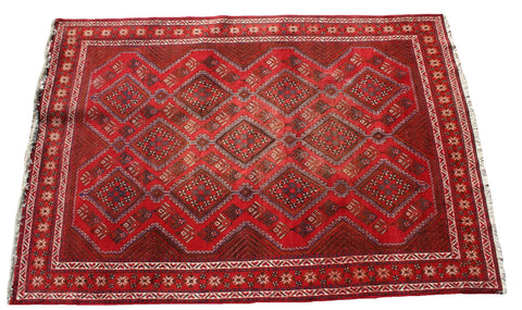 Persian Hamedan Hand-knotted Rug Wool on Cotton (ID 1261)