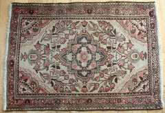 Persian Hamedan Hand-knotted Rug Wool on Cotton (ID 1055)